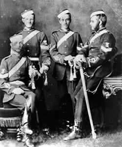 Sergeants from the No. 1 Queensland Volunteer Artillery